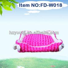 2014 new design pink soft dog house dog bed pet furniture