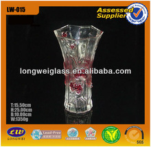 Cheapest decoration red flower spray color murano glass vases