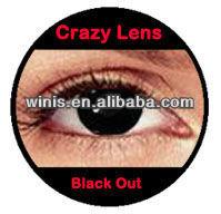 Wholesale color Halloween NARUTO contact lenses / black out cosplay Crazy contact lenses