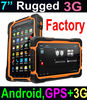 Cheapest 7inch Rugged Tablet with android GPS 3G waterproof rugged Tablet T70 IP67
