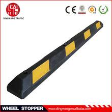 Long reflective car parking wheel stopper