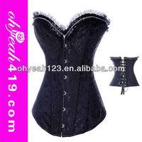Hot wholesale fashion black big women hot sex corset xxl