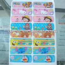 Free promotional cartoon design epoxy resin sticker for kids gift,classroom decoration sticker,machine logo sticker GZSC-RS009