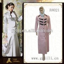 2013 latest fashion design baju kurung for lady (A8021)