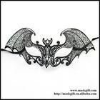 Halloween Masks Design~ Venetian Bat Style Solid Black Laser Cut Masquerade Party Masks MG003-BK