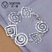 Wholesale fashion swirl shape silver bangles and bracelets