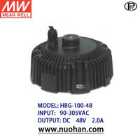 Mean Well led driver 100w 48v 100w with PFC driver HBG-100-48