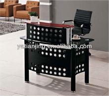 Resepsiyon/ön masa/ofis mobilyaları temperli cam