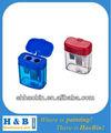 Box kunststoff bleistiftspitzer, bleistiftspitzer mit kappe