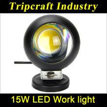 25W Round LED Work Light Driving Off-Road Spot Beam SUV ATV 4WD 4x4 Jeep Boat 10-30V 2500lm IP67 Super Bright B/White Housi
