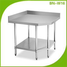 Cocina de acero inoxidable esquina mesa de trabajo / restaurante cocina bench BN-W16