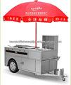 In acciaio inox mobili carrello hot dog/snack carrello