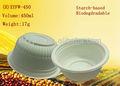 450 ml biodégradable bol en plastique, Salade bol avec couvercle