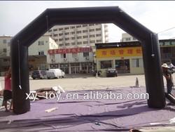 6x4m black color 15oz vinyl PVC inflatable arch