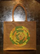 Rope handle jute bag, jute gorcery bag, resuable jute shopping bag