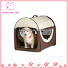 Portable Dog House Folding Pet Tent Red Dome Open Top Pet Carrier