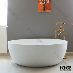 Wholesale Luxury Hotel Project Commercial Bathroom Freestanding Solid Surface Bathtub