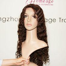 homeage pretty lady fashional human hair virgin lace wigs