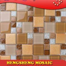 Latest design decoration wall tile floor tile glass mix ceramic mosaic marble mosaic sink