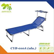 canopy folding aluminium sun beach bed