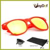 Top Quality Plastic Wayfarer Style Folding Sun glasses Promotion Sunglass Orange Sunglasses