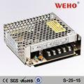 Ac dc convertidor de 15 v fuente de alimentación conmutada dc 25 W 15 v fuente de alimentación