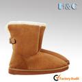 Hc-138 caliente venta de gamuza superior forro de piel de eva suela ajustable hebillas de la espalda caliente mujeres botas de nieve
