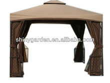 garden outdoor steel iron metal gazebo tent canopy with sidewalls