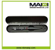 Promotion 3-in-1 Laser Pointer Led Light Ball Pen in Metal Box