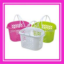 Solid plastic handy basket