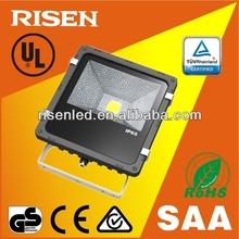 Outdoor 50W CE EMC PSE COB 50 watt led flood light meanwell driver and bridgelux chip IP65 LED flood light with 3 years warranty