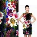 spandex cera africana impresa tela de algodón para las niñas vestidos de fiesta