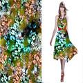 verão 2014 12mm roupagem impressão tecido de seda chiffon de seda vestido de padrões