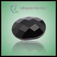 Flat bottom checker cut oval rough diamond