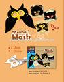 de alta calidad del festival artículos de fiesta de papel facial máscara para halloween con la impresión
