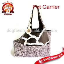 Brown Giraffe and Cheetah Print Small Dog Carrier