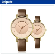 2015 best sale new product leather couple lover wrist watch