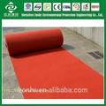 China velours teppichen und läufern, polypropylen shaggy rot nicht- gewebtes nadel punch ausstellung teppich