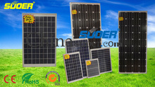 Suoer solar panel 30W 50W 150W solar cell module monocrystalline solar cells for home use hot sale solar panel