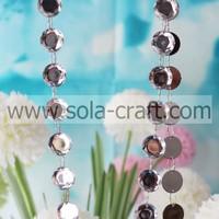 Acrylic Material Handmade Beaded Curtains For Living Room,Latest Design Charm Octagon Christmas Bead Garland10m