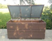 plastic rattan KD structure Aluminium frame waterproof rattan storage box
