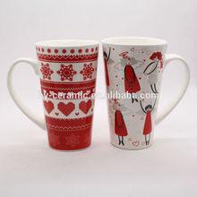 17oz bulk high quality new bone china christmas coffee mug wholesale,new products on china market
