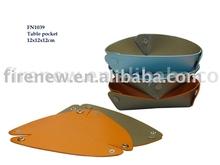 PU leather money tray, table valet, key tray, gift box