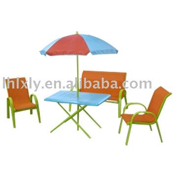 M tal et en plastique enfants table et des chaises pour l - Chaise enfant exterieur ...