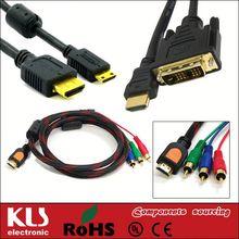 hdmi to vga + rca x 3 cable converter 1080p UL CE ROHS 249