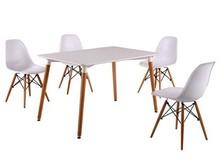 Modern Casual MDF matt Four Legs Dining Table