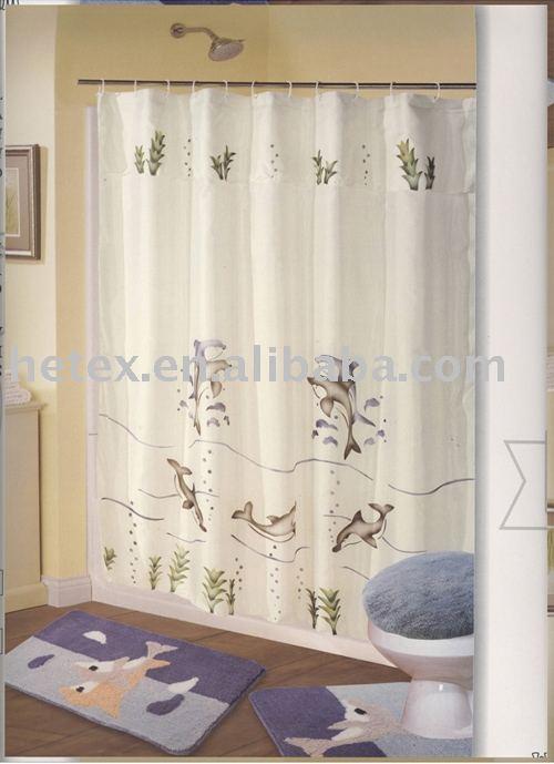 Cortinas De Baño Imagenes:100% de poliéster cortina de baño-Cortina de ducha-Identificación