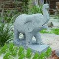 vida tamanho elefante escultura em pedra