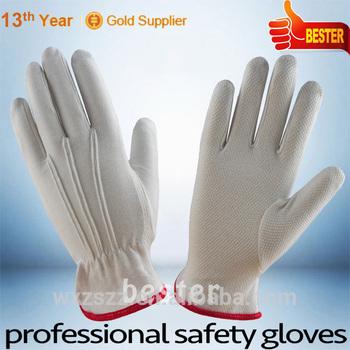 High quality slip proof polka dot cotton glove