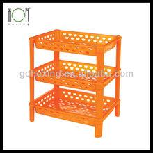 Plastic 3-layers Storage Holder Rack Shelf Price Wholesale